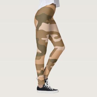 Legging As caneleiras/forças armadas de Brown Camo