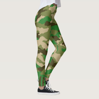 Legging as forças armadas camuflam
