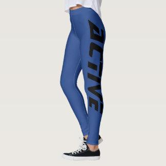 Legging Azul ativo legal do esporte