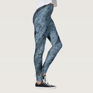 Legging Azul do Aqua textured