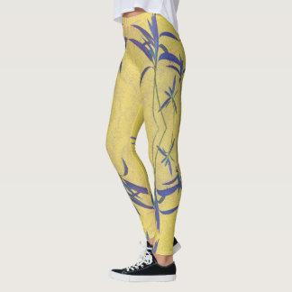 Legging Azul e amarelo rústicos