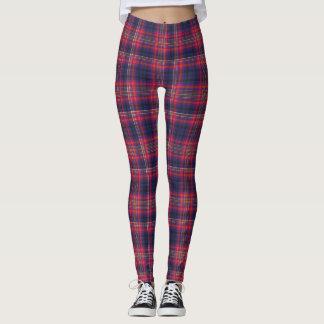 Legging Azul e vermelho Checkered