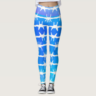 Legging Azul Ombre do arame farpado
