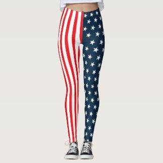 Legging Bandeira americana | a bandeira dos Estados Unidos