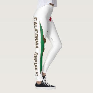 Legging Bandeira de Califórnia sangramento de um cheio de