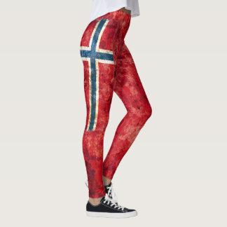Legging Bandeira de Noruega