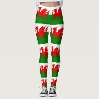 Legging Bandeira de Wales Galês Baner Cymru
