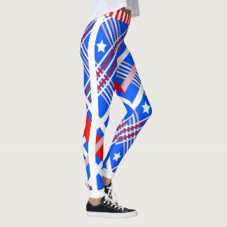 Legging Bandeira dos Estados Unidos dinâmica (cust.) no