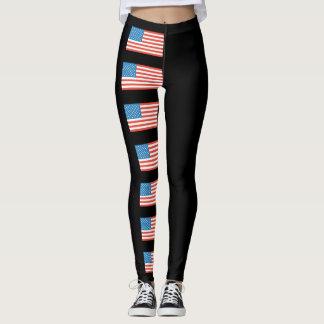 Legging Bandeira dos Estados Unidos do Dia da