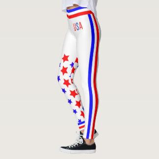 Legging Bandeira dos Estados Unidos dos EUA (cust.)