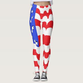 Legging Bandeira dos Estados Unidos patriótica EUA da