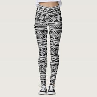 Legging Black & White Ir - African Love Power yoga -