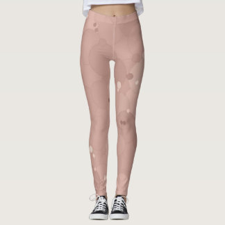 Legging Bolhas cor-de-rosa do fumo