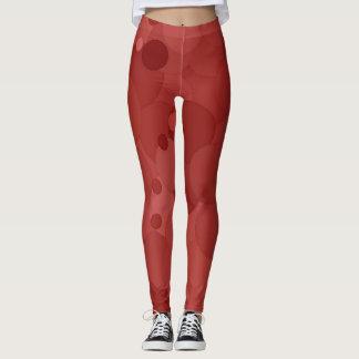 Legging Bolhas do vermelho da Aurora