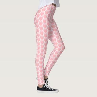 Legging Bolinhas contornadas do rosa cor-de-rosa na luz -