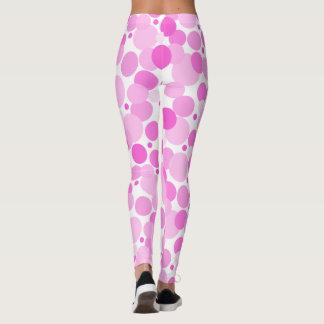 Legging Bolinhas cor-de-rosa grandes, corajosas,
