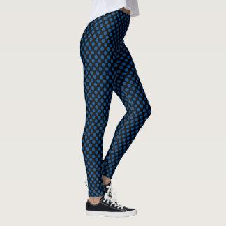 Legging Bolinhas do preto e do azul de Lapis