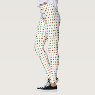 Legging bolinhas Multi-coloridas
