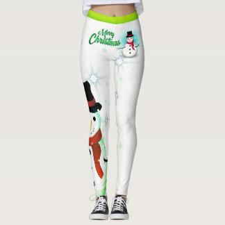 Legging Boneco de neve/floco de neve/White Christmas -