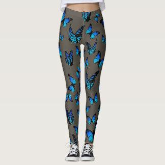 Legging borboletas azuis - caneleiras