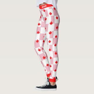 Legging Bordo canadense em Pastel cor-de-rosa Checkered