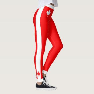 Legging Bordo canadense em vermelho e em branco
