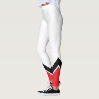 Legging Branco e preto vermelhos