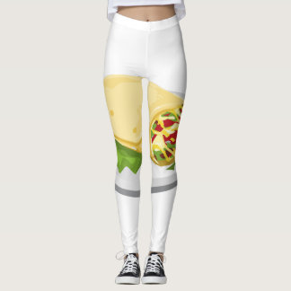 Legging Burrito amável do breakfurst da comida do pulso