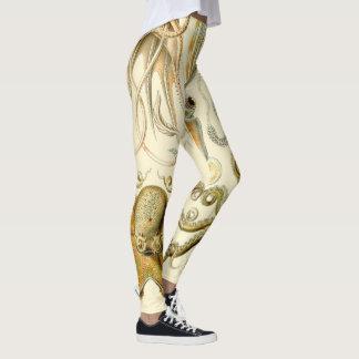 Legging Calamar Gamochonia do polvo do vintage por Ernst