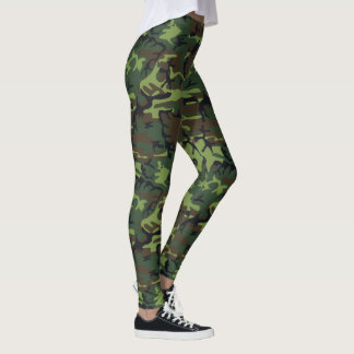 Legging Camuflagem verde militar