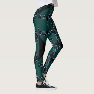 Legging Caneleira-Cerceta/preto/branco/verde/rosa da forma