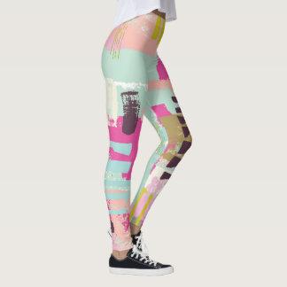 Legging Caneleiras abstratas coloridas - pintadas