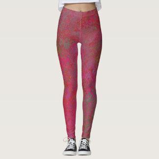 Legging caneleiras abstratas cor-de-rosa
