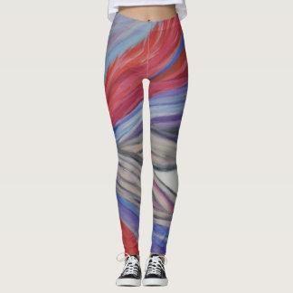 Legging Caneleiras abstratas da arte da alegria