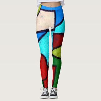 Legging Caneleiras abstratas das formas modernas na moda