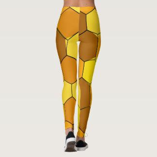 Legging Caneleiras abstratas do favo de mel