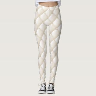 Legging Caneleiras acolchoadas Tuffted do olhar do marfim