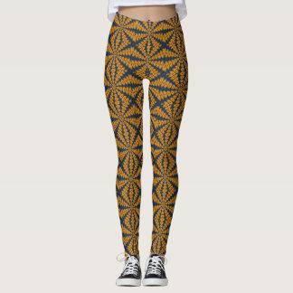 Legging Caneleiras alaranjadas da margarida africana