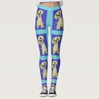 Legging Caneleiras amarelas coloridas do cão do