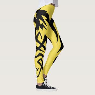 Legging Caneleiras amarelas da cauda do dragão