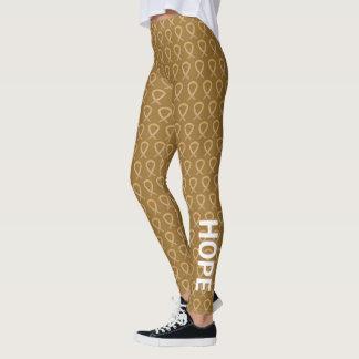 Legging Caneleiras ambarinas do costume da arte da fita da