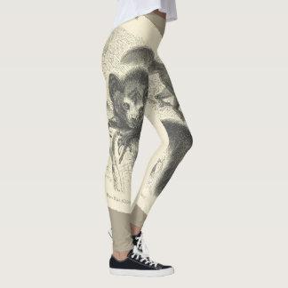 Legging caneleiras animais 1 do impressão