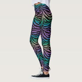 Legging Caneleiras animais do impressão da zebra completa