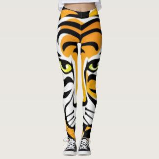 Legging Caneleiras animais do impressão do tigre dos