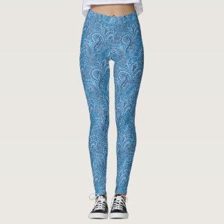 Legging Caneleiras azuis de Paisley