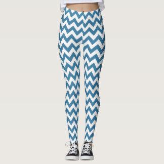 Legging Caneleiras azuis do estiramento das calças da ioga