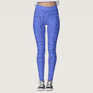 Legging Caneleiras azuis do teste padrão