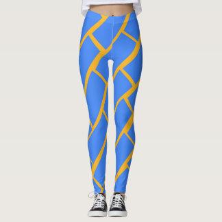Legging Caneleiras azuis do tijolo