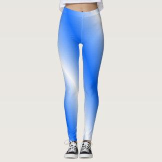 Legging Caneleiras azuis e brancas