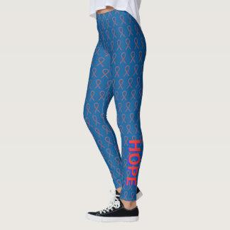 Legging Caneleiras azuis e vermelhas do costume da fita da